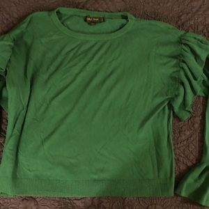 Forest Green sweater with Bell cuffs size Large